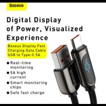 Baseus สายชาร์จ สายชาร์จเร็ว 40W Type C รองรับ SuperCharge 5A QC3.0 สำหรับ Samsung Huawei Xiaomi พร้อมจอแสดงแรงดันไฟฟ้า