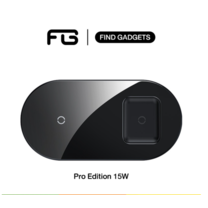 Baseus รุ่น 2in1 Wireless charger Pro Edition แท่นชาร์จไร้สาย เรียบหรู ดูดี รองรับสมาร์ทโฟนระบบไวเรส หูฟัง