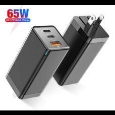 Baseus รุ่น Gan 65w Adapter CCGAN-A01 Mini Quick Travael Charger อะแดปเตอร์ ปลั๊ก usb charger หัวชาร์จ USB