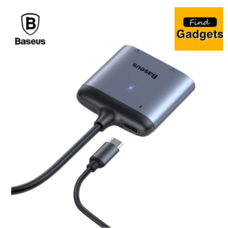 Baseus Type-C ถึง Dual HDMI 4K PD อะแดปเตอร์ชาร์จเร็ว HUB Docking Station HDMI Type C