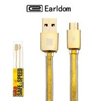 Earldom Remax สายชาร์จแท้ รุ่น Gold Safe Speed For Micro usb และ iPhone รับประกัน 1 ปี