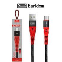 Earldom EC-060 Type-C Micro iphone Metal Data Cable สายชาร์จแบบถัก 2.4A mAh สายชาร์จ