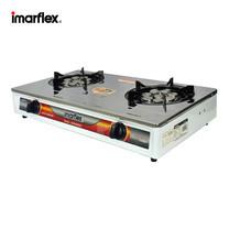Imarflex เตาแก๊สสแตนเลส หัวคู่ หัวเทอร์โบ ประหยัดแก๊ส รุ่น IG-419