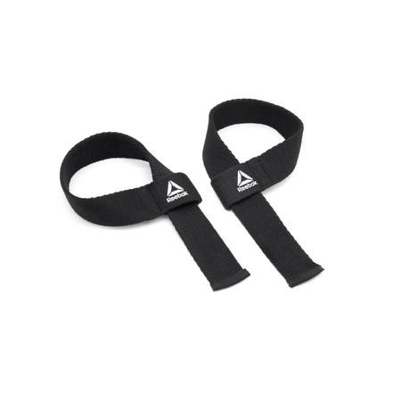 Reebok สายรัดสำหรับยกน้ำหนัก (สีดำ) 1 คู่