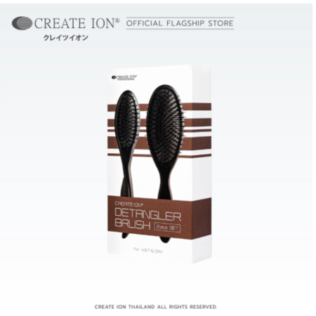 Create Ion แปรงสางผม Detangler Brush Set