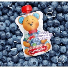Bambolina Apple and Blueberries Puree 90g (1pc)