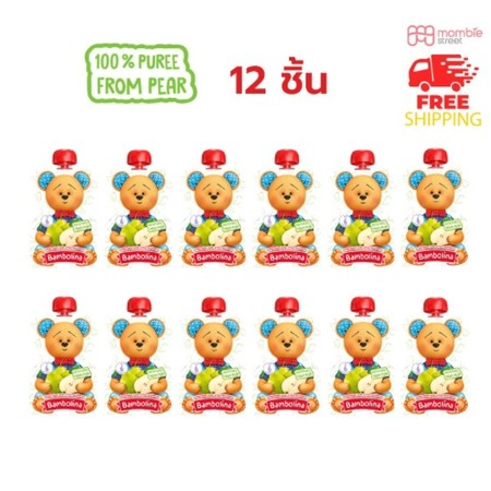 Bambolina Pear Puree 90g (12pc)