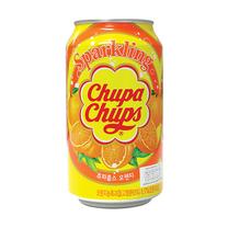 CHUPA CHUPS SPARKLING DRINKS ORANGE จูปา จุปส์ เครื่องดื่มผลไม้อัดก๊าซ รสส้ม 345 ml.