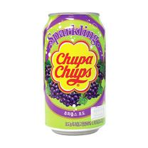 CHUPA CHUPS SPARKLING DRINKS GRAPE จูปา จุปส์ เครื่องดื่มผลไม้อัดก๊าซ รสองุ่น 345 ml.