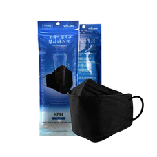WiiCare KF94 Black Mask หน้ากากอนามัยรุ่นสีดำ (1 แพ็คมี 5 ชิ้น)