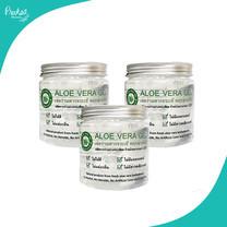 เจลว่านหางจระเข้ พฤกษาเภสัช Aloe vera gel pruksabhaesaj ขนาด 250 กรัม 3 กระปุก