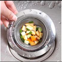 ที่กรองเศษอาหาร ตัวกรอง ตะแกรงอ่างล้างจาน สะดืออ่าง รองซิงค์ ซิงค์ล้างจาน ไซส์มาตรฐาน 9x11.5 cm. รุ่่นตาถี่