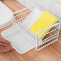 ที่วางฟองน้ำ ตะแกรงวางฟองน้ำ วางของใช้ แบบมีตะแกรงรองน้ำ ในครัว/ห้องน้ำ