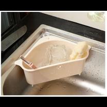 ตะกร้ากรองเศษอาหาร วัสดุพลาสติกระบายน้ำได้ดี สีครีม