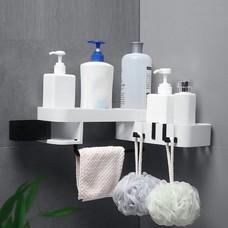 ชั้นวางของ ชั้นวาง ในห้องน้ำ และ ห้องครัว ติดผนัง ที่วางของ แบบ 2 ชั้น ที่แขวนผ้าขนหนู วางสบู่ วางแชมพู ไม่ต้องเจาะผนัง