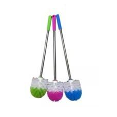 แปรงล้างห้องน้ำ แปรงขัดห้องน้ำ แปรงทำความสะอาด ด้ามสแตนเลสแปรงทำความสะอาด รุ่น หัวกลม (ด้ามคละสี)