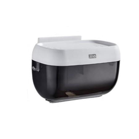 กล่องใส่กระดาษทิชชู่ในห้องน้ำ ป้องกันไม่ให้กระดาษเปียก ใส่ได้ทั้งกระดาษม้วนและกระดาษห่อใหญ่ มีคอนโซลไว้วางสิ่งของ