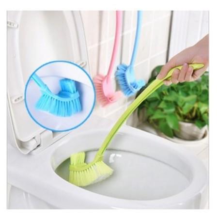 แปรงขัดห้องน้ำ หัวแปรง 2 ด้าน แปรงขัดทำความสะอาดห้องน้ำ คละสี