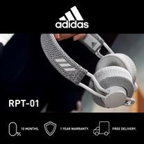 Adidas RPT- 01 หูฟังออนเอียร์บลูทูธ สี LIGHT GREY -  จัดส่งฟรี + รับประกัน 1 ปี (หูฟังออกกำลังกาย บลูทูธ, ทนเหงื่อ/กันเหงื่อ, เบสหนักๆ)