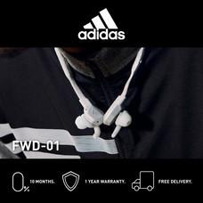 Adidas FWD-01 หูฟังอินเอียร์บลูทูธ สี LIGHT GREY - จัดส่งฟรี + รับประกัน 1 ปี (หูฟังออกกำลังกายบลูทูธ, ทนเหงื่อ/กันน้ำ, เบสหนัก)