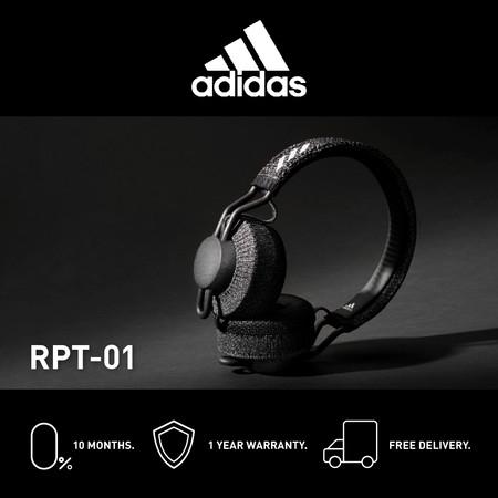 Adidas RPT- 01 หูฟังออนเอียร์บลูทูธ สี NIGHT GREY - จัดส่งฟรี + รับประกัน 1 ปี (หูฟังออกกำลังกาย บลูทูธ, ทนเหงื่อ/กันเหงื่อ, เบสหนักๆ)