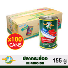 ตรานกพิราบ ปลาแมคเคอเรลในซอสมะเขือเทศ 1 ลัง (100 กระป๋อง) 155 g./กระป๋อง
