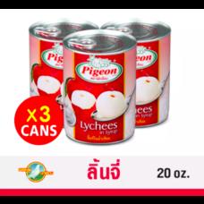 ตราพีเจี้ยน ลิ้นจี่ในน้ำเชื่อมพีเจี้ยน (Cans 3 ) 20 oz.