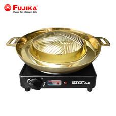 FUJIKA เตา BBQ พร้อมกระทะ เตาบาร์บีคิว เตาไฟฟ้า เตาปิ้งย่าง กระทะทองเหลือง