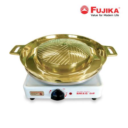 FUJIKA เตาบาร์บีคิวไฟฟ้า รุ่น FB-1416 พร้อมกระทะทองเหลือง เตาไฟฟ้า กระทะทองเหลือง