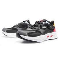 BAOJI รองเท้าผ้าใบชาย รุ่น BJM576-สีดำ/เทา