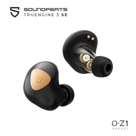 SOUNDPEATS Truengine 3 SE หูฟังไร้สาย Dual Driver เบสหนัก รองรับ aptX มีไมค์คู่ตัดเสียงรบกวน กันน้ำ IPX5