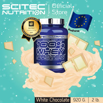 SCITEC NUTRITION 100% Whey Protein White Chocolate 920 กรัม เวย์โปรตีนสูตรเพิ่มกล้ามเนื้อ