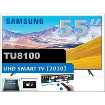 "SAMSUNG 55"" TU8100 Crystal UHD 4K Smart TV (2020) Free One remote 55TU8100"