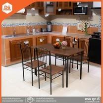 HEAP ชุดโต๊ะอาหารเมลามีน 4 ที่นั่ง รุ่น โคล่า 022 สีโอ้ค [สินค้าไม่รวมประกอบ] |ZWF|