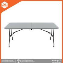 FINEXT โต๊ะเหลี่ยมพับครึ่งขาเหล็ก ขนาด 6 ฟุต สีขาว |EA|