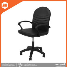 เก้าอี้สำนักงานหนัง รุ่น SA47 สีดำ  EA 