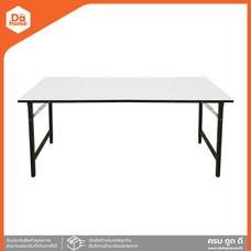 โต๊ะพับอเนกประสงค์เมลามีน ขาพ่นดำ ขนาด 60X120 ซม. |LAN|