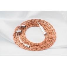 The Cable Master Vermeer 4 Wired ถัก 4 (ขั้ว 2 Pin / แจ็ค 2.5 Rhodium) สายทองแดง 7N UP-OCC Copper ประกันศูนย์ไทย 6 เดือน