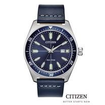 CITIZEN Eco-Drive AW1591-01L Leather Men's Watch (นาฬิกาข้อมือผู้ชายระบบพลังงานแสง)
