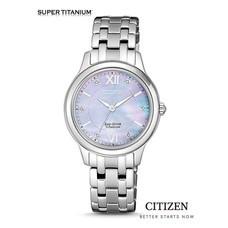 CITIZEN Eco-Drive EM0720-85Y Super-Titanium Lady Watch ( นาฬิกาข้อมือผู้หญิงระบบพลังงานแสง )