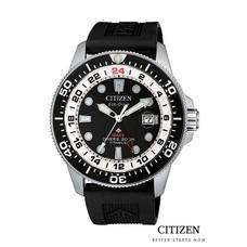 CITIZEN Eco-Drive BJ7111-86L / BJ7110-89E / BJ7110-11E Super Titanium GMT Promaster Diver Men's Watch ( นาฬิกาข้อมือผู้ชายระบบพลังงานแสง )