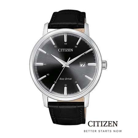 CITIZEN Eco-Drive BM7460-11E / BM7463-12A Leather Men's Watch ( นาฬิกาข้อมือผู้ชายระบบพลังงานแสง )