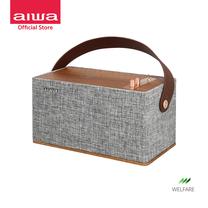 AIWA Wellington Bluetooth Speaker ลำโพงบลูทูธพกพา รองรับ Wireless Charging วัสดุไม้แท้ Soft Sound++