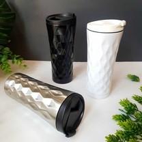 Black 3D water bottle กระบอกน้ำสแตนเลส 3 มิติ แก้วเก็บความเย็น แก้วน้ำเก็บความเย็น