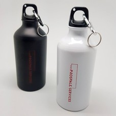 กระบอกน้ำทรงสปอร์ต สูญญากาศ ฝาปิดแบบเกลียวเกี่ยวกับกระเป๋า สะดวกต่อการพกพา
