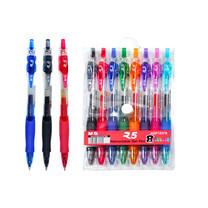 M&G AGP12378 ปากกาเจลกด GEL PEN ขนาด 0.7 mm แพ็คคละ 8 ด้าม มีสีน้ำเงิน,ฟ้า,ดำ,แดง,ชมพู,เขียว,ม่วง และ ส้ม - เอ็มแอนด์จี เครื่องเขียน