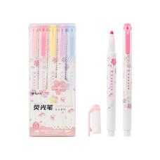 M&G AHMT6207 ปากกาไฮไลท์ สีพาสเทล Sakura ซากุระ มี 5 สี จำหน่าย 1 ชุด 5 สี 5 ด้าม