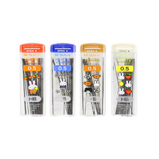 M&G FSL60017 ไส้ดินสอ ไส้ดินสอกดกด HB 0.5 mm. จำหน่าย แพ็คคละสี 6 หลอด