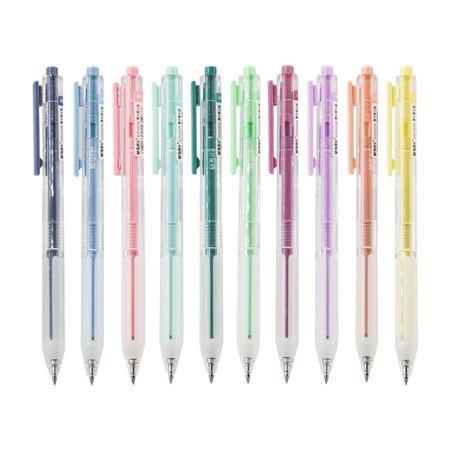 M&G AGPJ4606 ปากกาเจลกด 0.5 mm. สีพาสเทล มีทั้งหมด 10 สีให้เลือก สีหมึกปากกาตามสีด้าม จำหน่ายกล่อง 12 ด้าม