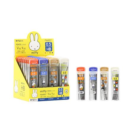 M&G FSL60017 ไส้ดินสอ ไส้ดินสอกดกด HB 0.5 mm. จำหน่าย ยกกล่องคละสี 36 หลอด